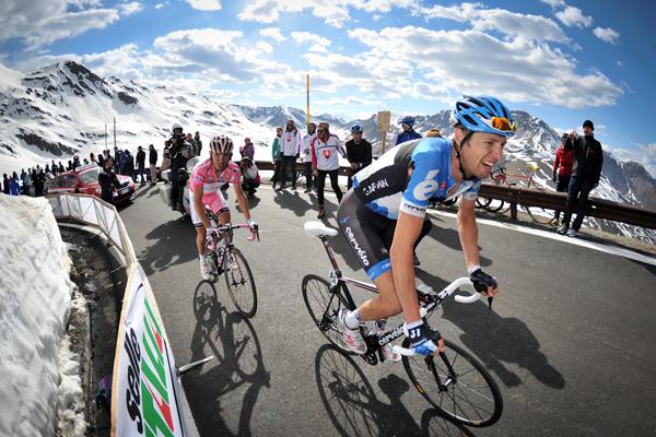 Rodriguez e Hesjedal sullo Stelvio al Giro 2012
