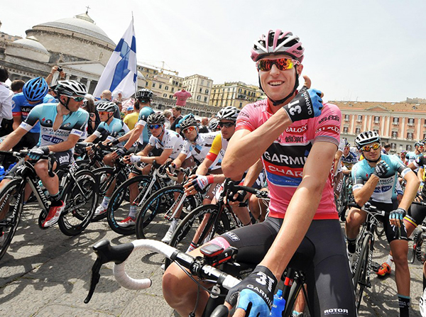 Ryder Hesjedal in rosa al Giro 2013
