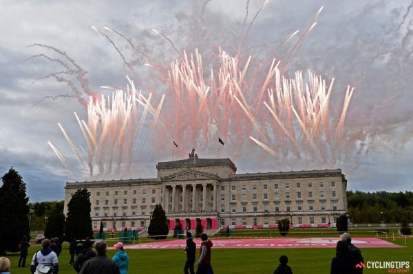 Fuochi d'artificio rosa in Irlanda per il Giro 2014