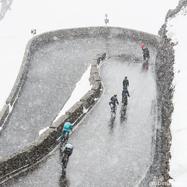 La neve al Giro d'Italia 2014