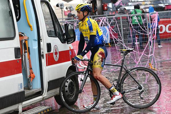 Escoriazioni al Giro 2014