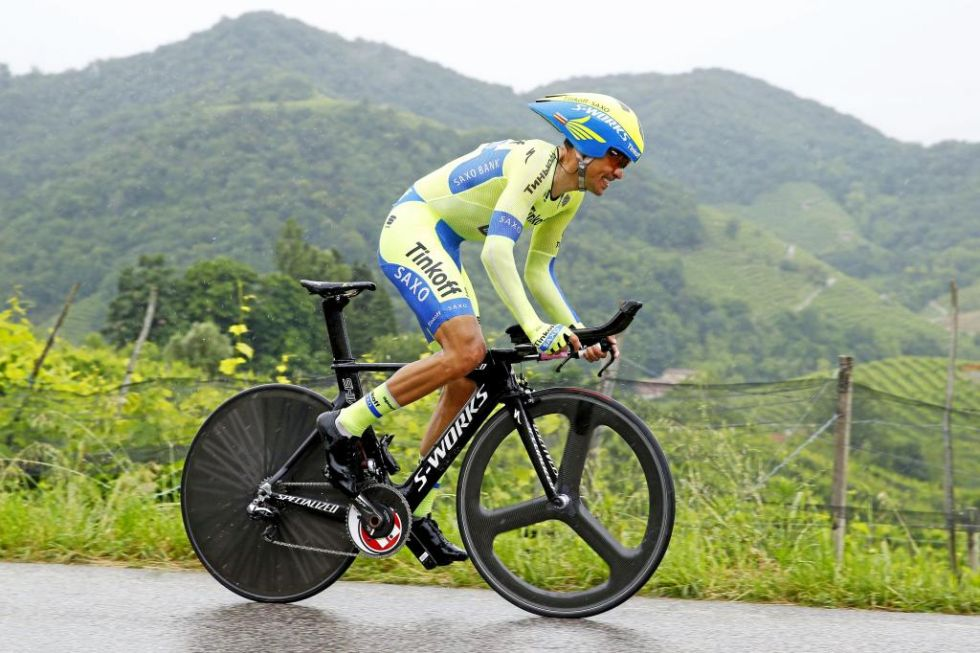 Contador a cronometro al Giro d'Italia 2015