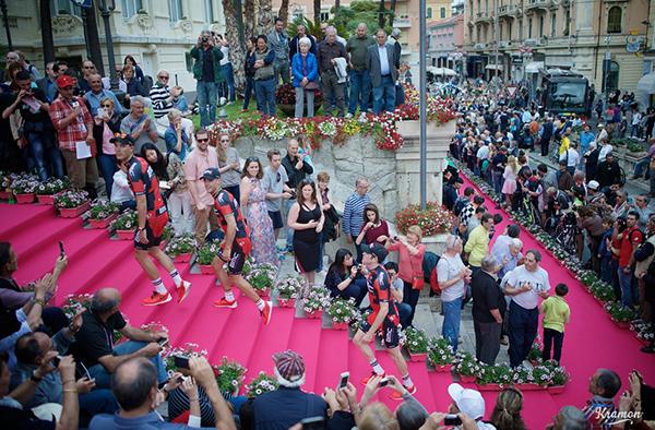 Il pink carpet al Giro 2015