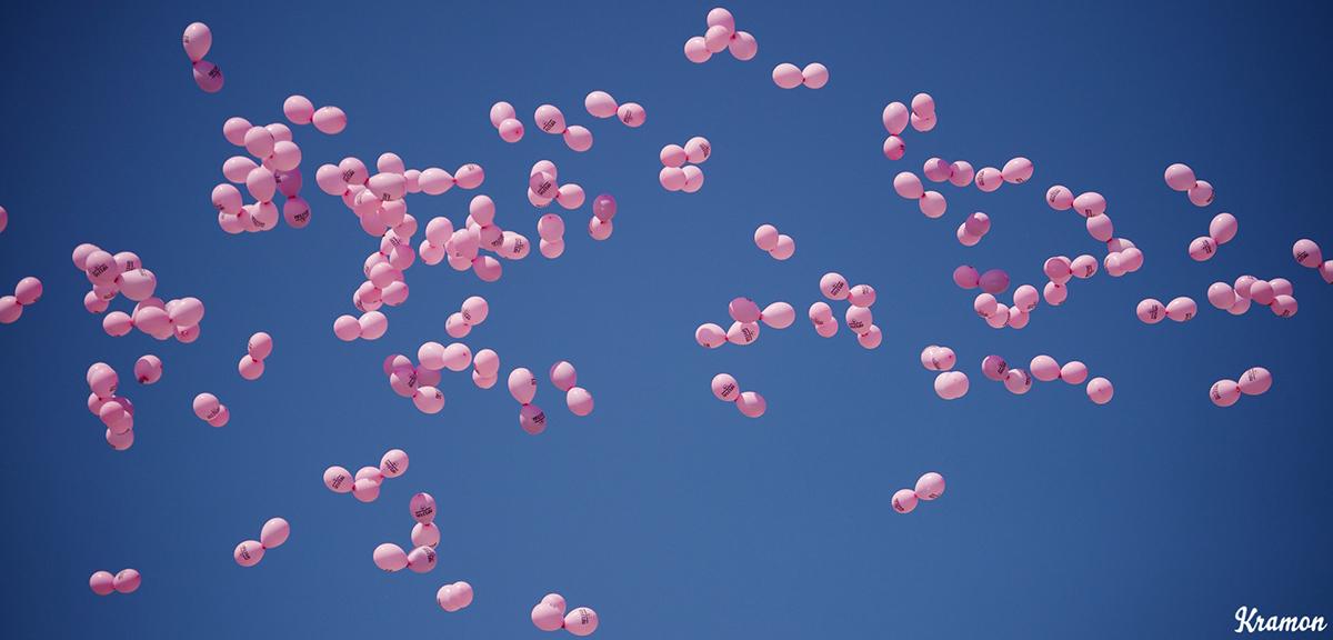 Palloncini rosa al Giro d'Italia 2016