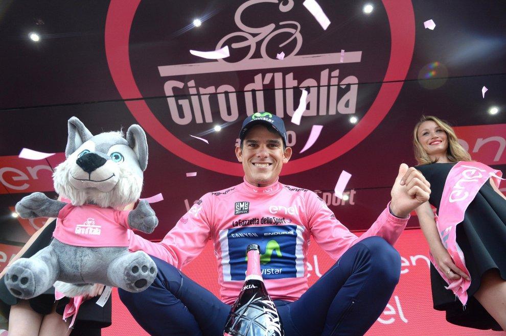 Amador in maglia rosa al Giro d'Italia 2016