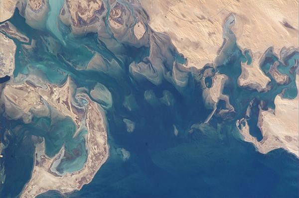 Il Golfo Persico visto dallo spazio