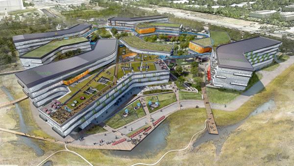 Il nuovo campus di Google