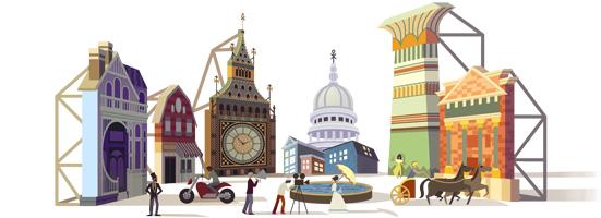 Il doodle di Google per Cinecittà