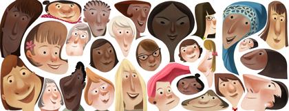 Il doodle di Google per la Festa della donna