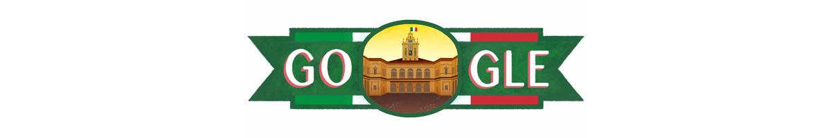 Il doodle di Google per la Festa della Repubblica