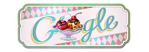 Il doodle di Google per il 119esimo anniversario del gelato Sundae