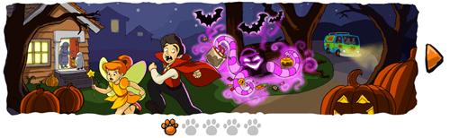 Il Google doodle animato di Halloween