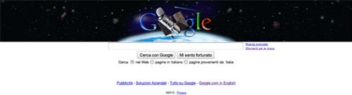 Il Google Doodle per i 20 anni del telescopio spaziale Hubble della NASA