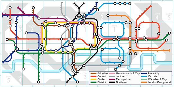 Il doodle di Google per la metropolitana di Londra