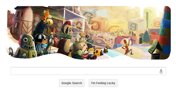 Google doodle Natale 2012