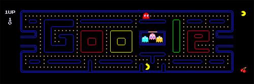 Il doodle di Google per il trentesimo anniversario di Pac-Man