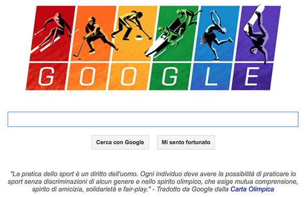 Il doodle di Google per Sochi 2014