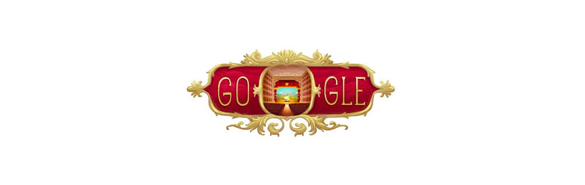 Il doodle di Google per il Teatro alla Scala