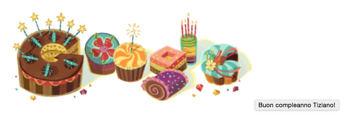 Il doodle di Google per il compleanno