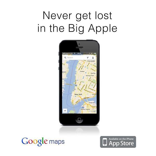 Pubblicità di Google Maps per iPhone
