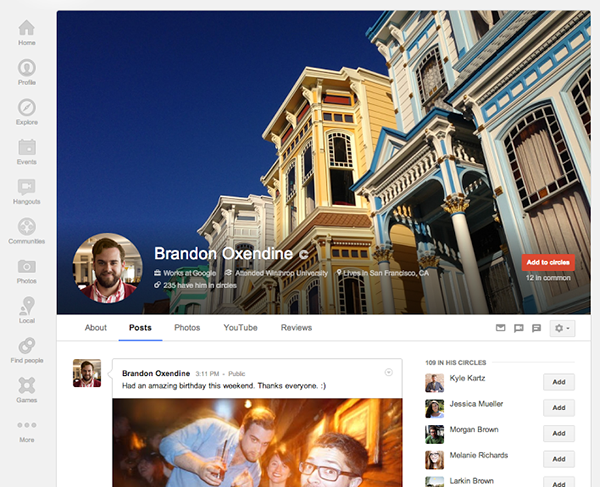 Il restyling 2013 di Google+