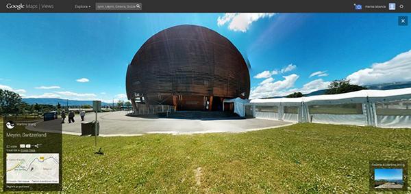 Il CERN su Street View