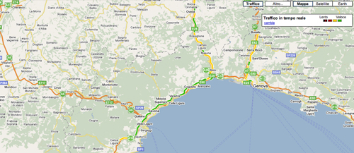 Screenshot di Google Maps