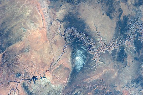 Il Grand Canyon visto dallo spazio