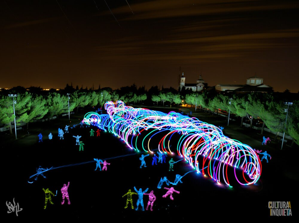 Gulliver light painting