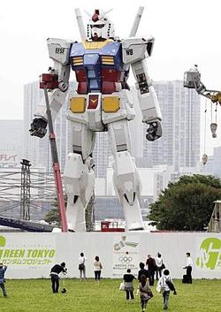 Gundam a grandezza naturale a Tokyo