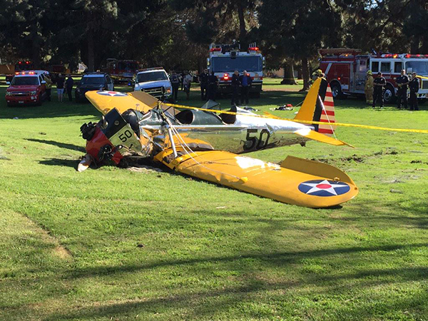 L'aeroplano precipitato di Harrison Ford