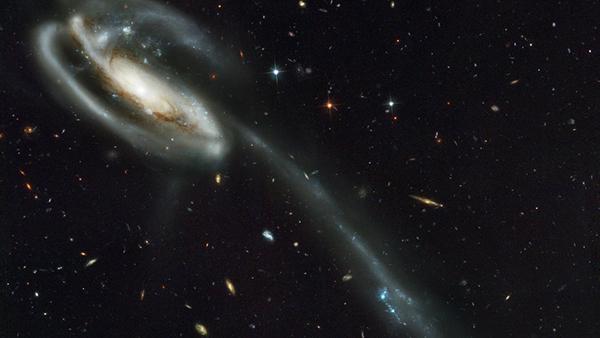 Una delle prime foto riprese dal telescopio Hubble