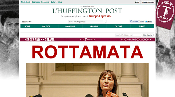 Screenshot di Huffington Post Italia
