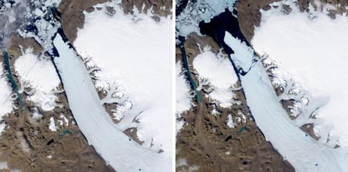Le foto satellitari dell'iceberg della NASA e dell'ESA