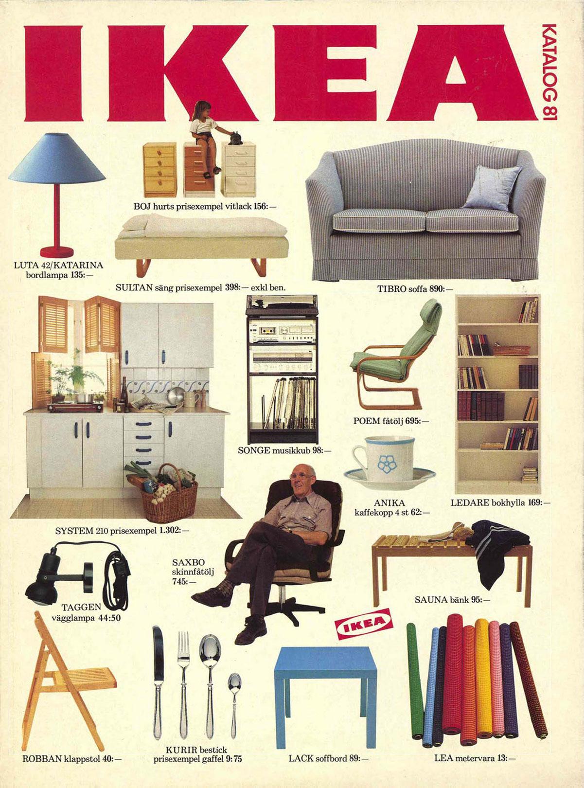 Copertina del catalogo Ikea 1981
