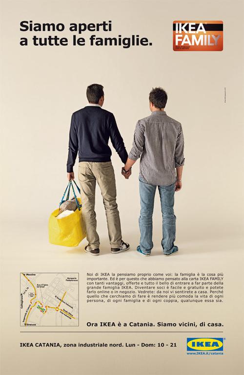 Il manifesto Ikea contestato dal sottosegretario alla famiglia Giovanardi