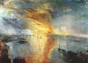 L'incendio alla Camera dei Lords e dei Comuni