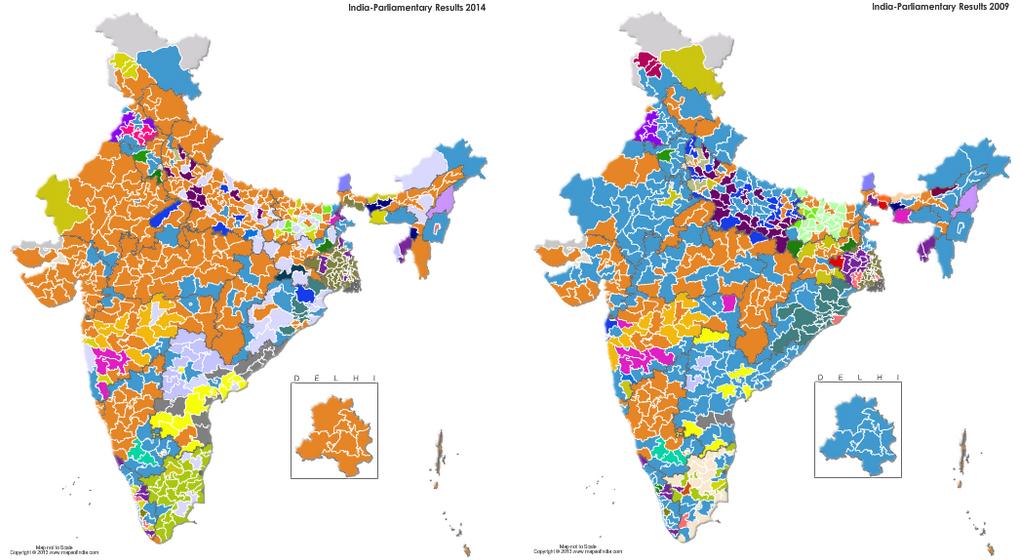 Risultati elettorali in India 2009-2014