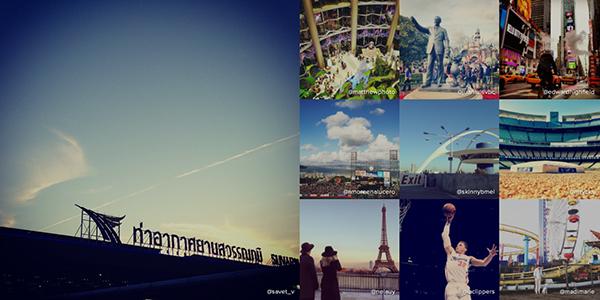 I luoghi più fotografati su Instagram
