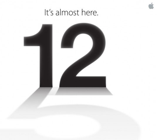 Il poster dell'evento Apple per la presentazione di iPhone 5