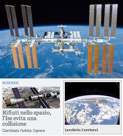 La Stazione Spaziale Internazionale oggi e le foto vecchie di anni sul Corriere della Sera