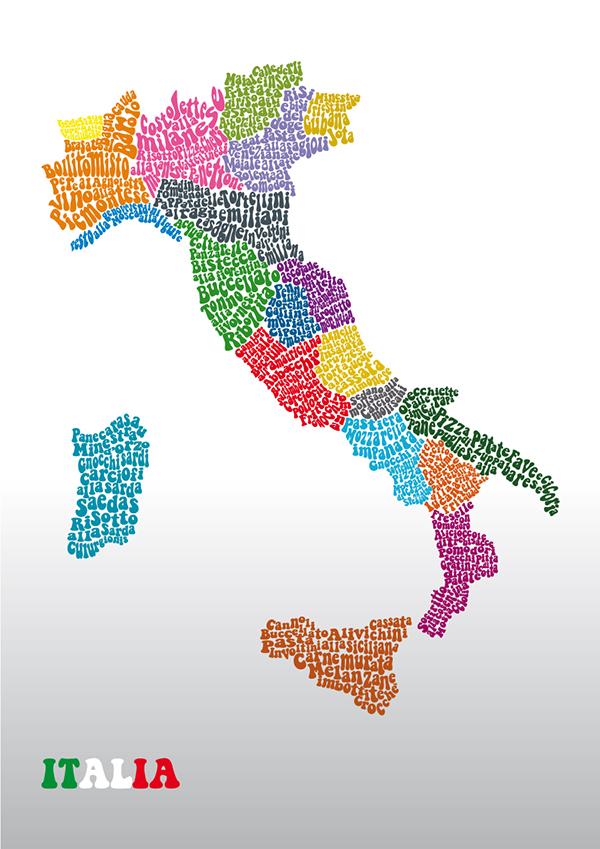 Mappa delle specialità culinarie italiane