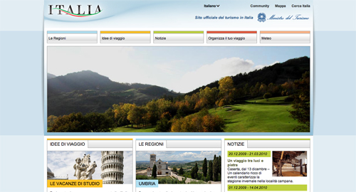 Screenshot di Italia.it