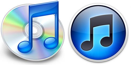 La vecchia icona di iTunes e la nuova di iTunes 10