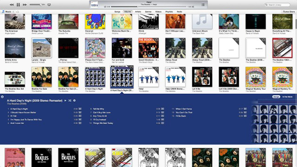 Screenshot di iTunes 11