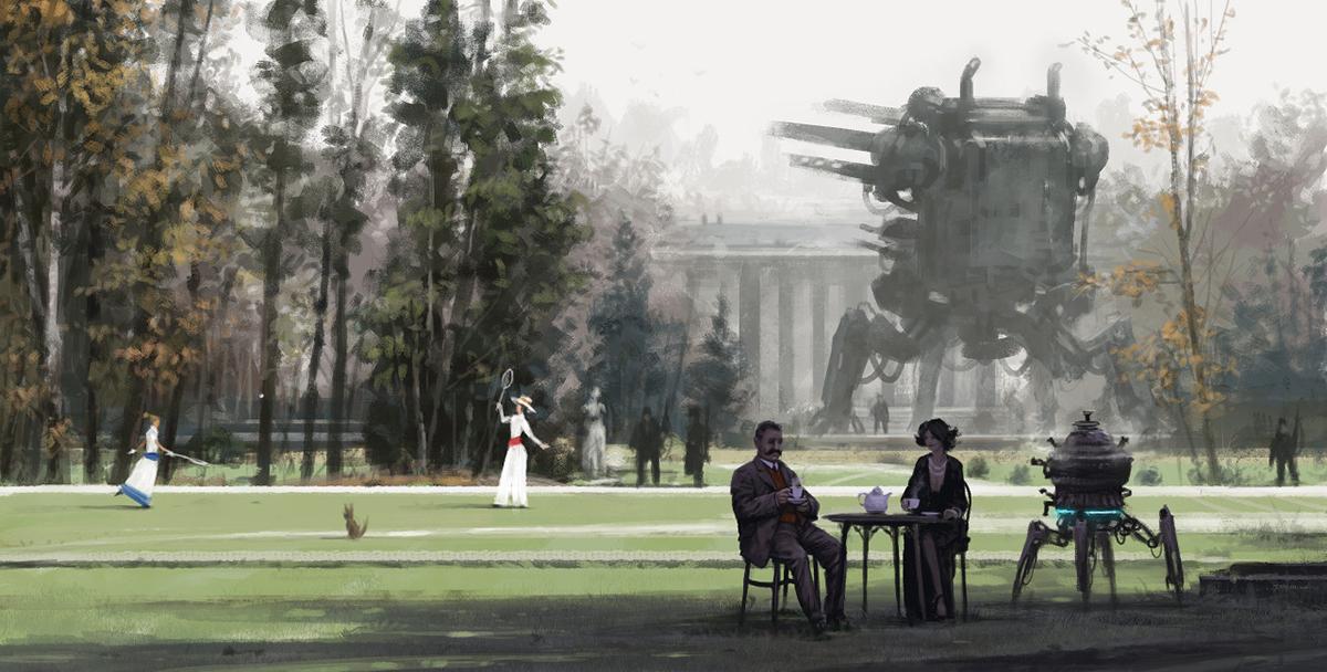 Un dipinto di storia alternativa di Jakub Rozalski