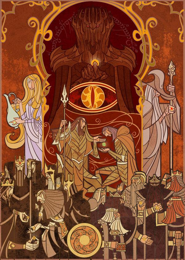 Il Signore degli Anelli illustrato da Jian Guo