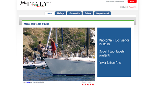 Screenshot di Join Italy