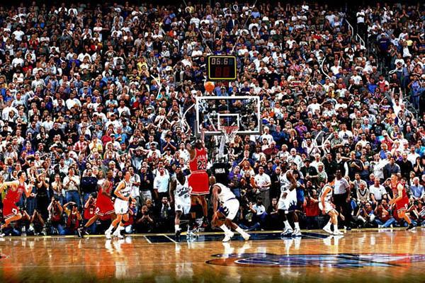 Jordan nella finale NBA del 1998