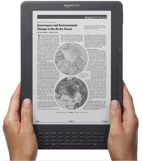Il nuovo Kindle DX color graffite